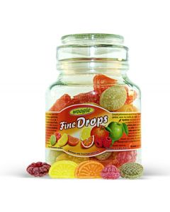 German Fine Drops Sanded Mix fruits Candy Mini Glass Jar 300gr (2 pcs)