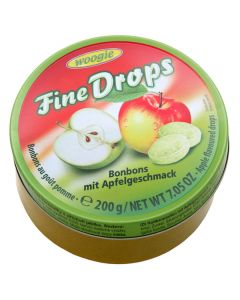 German Fine Drops Apple Sanded Hard Candy Tin 200g (Apfelgeschmack) (3 pcs)