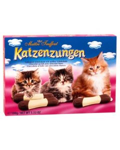 Milk and White  Chocolate Catfingers 3.5oz Box (4 pcs)