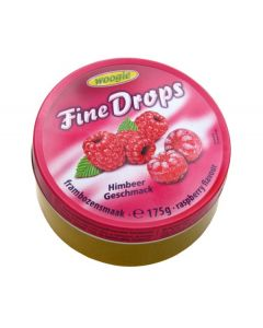 German Fine Drops Sanded Raspberry Candy 175gr tin (Himbeergeschmack) (3 pcs)