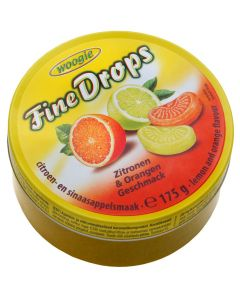 German Sanded Lemon and orange Candies 175g Tin (Zitronen- und Orangengeschmack) (3 pcs)