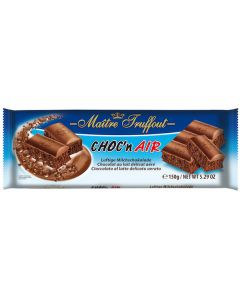 Aerated Milk Chocolate Bar (Choc'n Air) 150g (6 pcs)