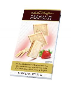Premium White Chocolate Bar With Strawberry 100g (3 pcs)