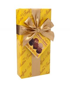 Belgian Chocolate Pralines In yellow Ribbon Gift Box 100g (2 pcs)