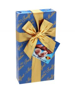 Belgian Chocolate Sea Shells Pralines In Blue Ribbon Gift Box 100g (2 pcs)