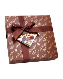 Assorted Dark Belgian pralines Wrapped w/Bow 200g Box (2 pcs)