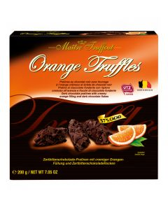 Belgian Orange Chocolate Truffles 200g Box
