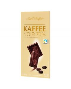 Belgium Dark Chocolate 70% w/ Coffee 100g Bar (kaffee) (4 pcs)