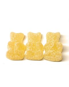 Gin And Tonic Clear Sugared Bear Gummy 1 inch (Non-Alcoholic) (2.200 Lbs)