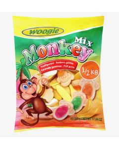 Mix Fruit Monkey Gummy 500g bag (2 pcs)
