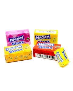 Haribo Fruity Taffy Blocks (Maoam Fruktkola Kub Bloxx) (2 Lbs)
