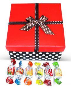 Greek Harvest Bounty Fruit Jellies Mix Red Top Box w/Bow (1 pcs)