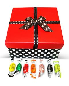 Italian Filled Candy Assortment Red Top Box w/Bow (1 pcs)