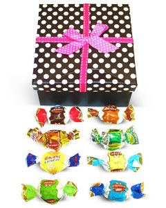 Ultima Misto Italian Fantacy Chocolate Truffles Dots Box w/Bow (1 pcs)