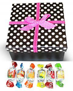 Valentine Finnish Sweet Delights Mix  in Pink Polka Dots Box w/Bow (1 pcs)