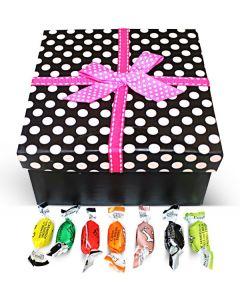 Italian Filled Candy Assortment Polka Dots Box w/Bow (1 pcs)
