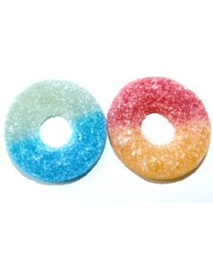 Fruity Gummy Rings (Tutti Frutti Rings Losvikt) (2 Lbs)