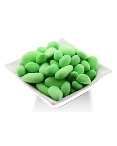 Thin Shelled French Almond Dragees - Green (1 Lbs)