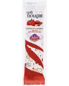 Strawberry and almonds Soft Nougat Bar 60g (8 pcs)