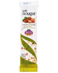 Caramel and hazelnuts Soft Nougat Bar 60g (8 pcs)