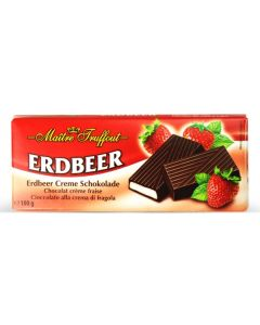 German Dark chocolate with strawberry Bar 100g (5 pcs)