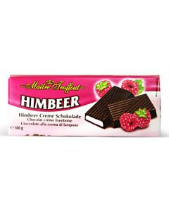 German Dark chocolate with raspberry cream Bar 100g (5 pcs)