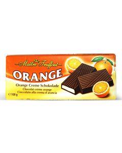 German Dark chocolate with orange cream Bar 100g (6 pcs)