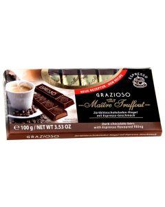 Grazioso Dark chocolate Espresso bars 100g (6 pcs)