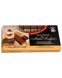 Grazioso Milk chocolate Tiramisu bars 100g (6 pcs)