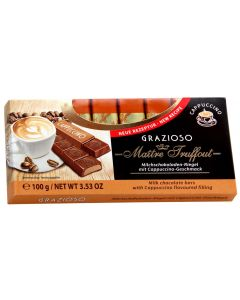 Grazioso Milk chocolate capuccino bars 100g (6 pcs)