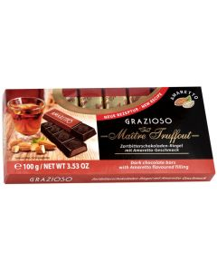 Grazioso Amaretto Milk Chocolate Bar 100g (6 pcs)