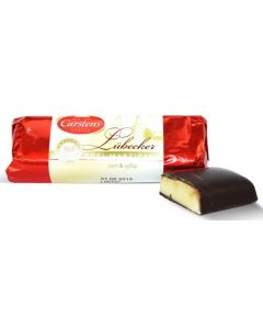 Lubecker Marzipan Dark Choc Covered 2.7oz log (7 pcs)