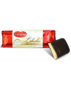 Lubecker Marzipan Dark Choc Covered 4.4oz log (5 pcs)