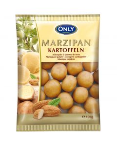 Cocoa Dusted Marzipan potatoes 100g bag (Marzipankartoffeln) (4 pcs)