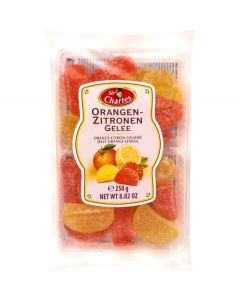 Sugared jellies with lemon and orange flavour 250g Tray (2 pcs)