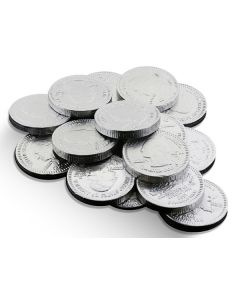 Milk Chocolate Silver Coins 1In (1 Lbs)