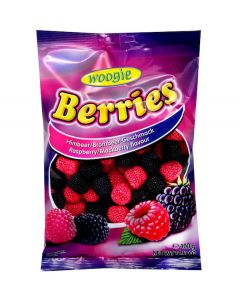 Dutch Red Black & Raspberry Gummy 400g Bag (3 pcs)
