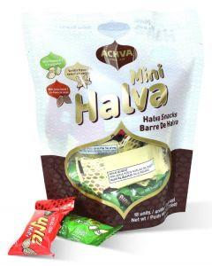 Sesame Halva Mini Snack Bag Vanilla/Cocoa Nibs/Pistachio 7.6oz (4 pcs)