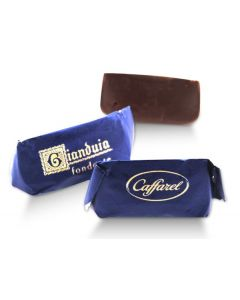Dark Gianduitto Super Smooth Chocolate And Piadmontese Hazelnuts In Blue Wrapper (40 pcs)