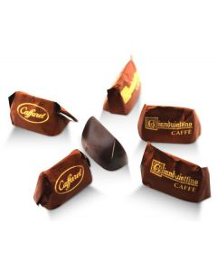 Mini Coffee Gianduitto Smooth Dark Chocolate Gianduia And Piadmontese Hazelnuts In Brown Wrapper (80