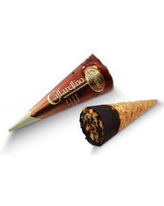 Dark Chocolate Hazelnut Gianduja Waffle Cones (40 pcs)