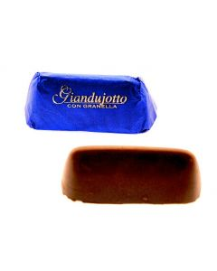 Classic Gianduiotto Smooth Milk Chocolate Gianduia with Hazelnut Crunch In Blue Wrapper (45 pcs)
