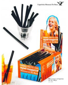 Black Licorice Straw 20cm CANNUCCE MAXI DI LIQUIRIZIA (30 pcs)
