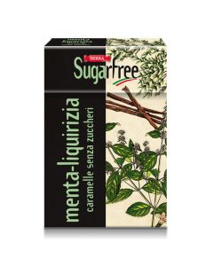 SF Licorice Mint Sugar Free Candy 50g Box - Le Erbe: Menta Liquirizia (5 pcs)