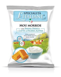 Alpine Milk Soft Toffee (Morbida Mou Panna Fresca e Latte Alpino) 100gr Bag (5 pcs)