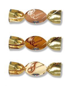 Italian Dark Chocolate W/ Assort Cream Bonbon (Noblesse Choco Cream) (2 Lbs)