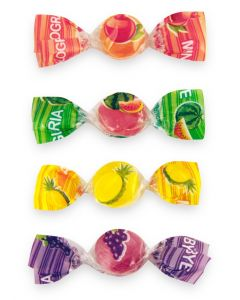 Italian Fruit Mix Mini Hard Candy Bonbons (Bye Mini) (2.200 Lbs)