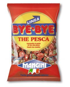 Manigini Peach Tea Italian Mini Candy (Bye Tè Pesca) 150g bag (5 pcs)