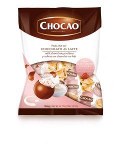Italian Milk Chocolate  Pralines w/ Yogurt And Strawberries Cream (1.250 Lbs)