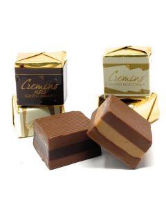 Cremino Layered Gianduia Chocolate w/ Rich Hazelnut or Dark Chocolate Center (Cremini assort.) (50 p